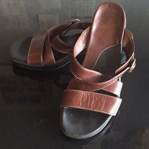 Clarks leather upper sandals size 9